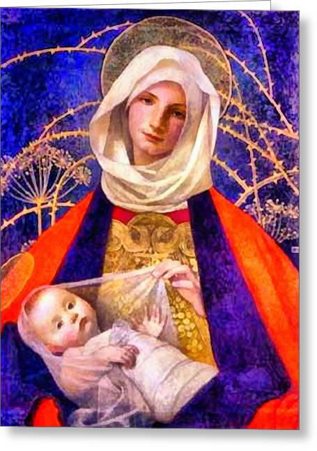Sacred Religious Art Greeting Cards - Religious Art 26 Greeting Card by Victor Gladkiy