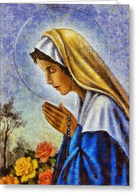 Devotional Art Greeting Cards - Religious Art 3 Greeting Card by Victor Gladkiy