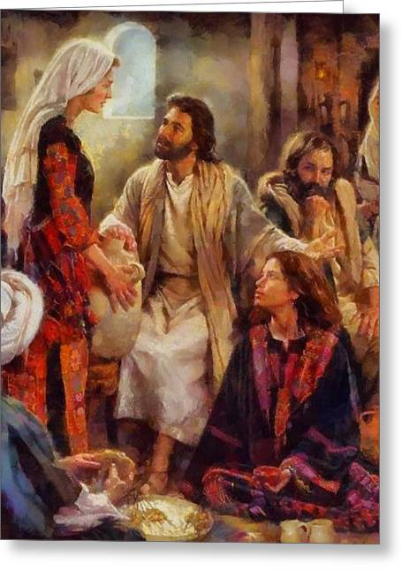 Devotional Art Greeting Cards - Religious Art 34 Greeting Card by Victor Gladkiy