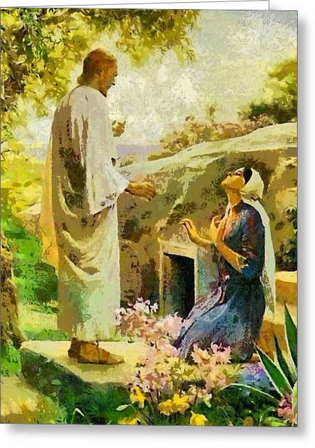 Devotional Art Greeting Cards - Religious Art 38 Greeting Card by Victor Gladkiy
