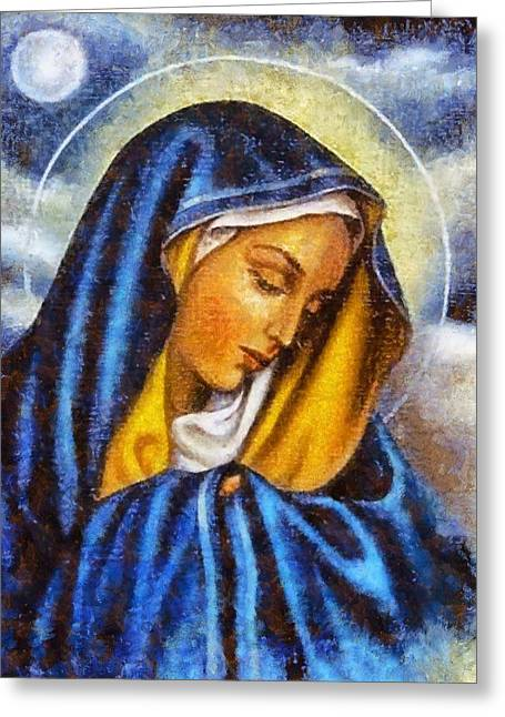 Devotional Art Greeting Cards - Religious Art 4 Greeting Card by Victor Gladkiy