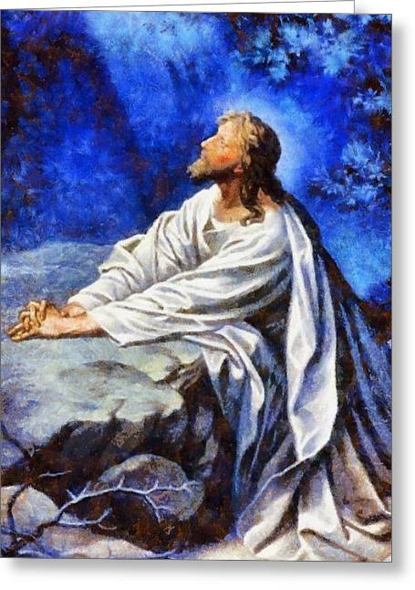 Devotional Art Greeting Cards - Religious Art 45 Greeting Card by Victor Gladkiy
