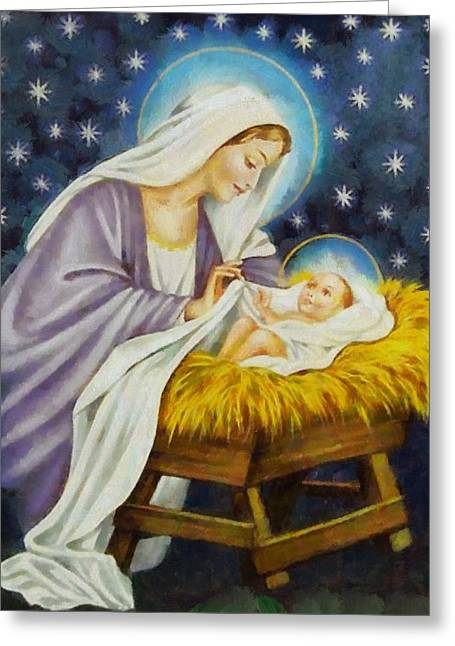 Devotional Art Greeting Cards - Religious Art 49 Greeting Card by Victor Gladkiy