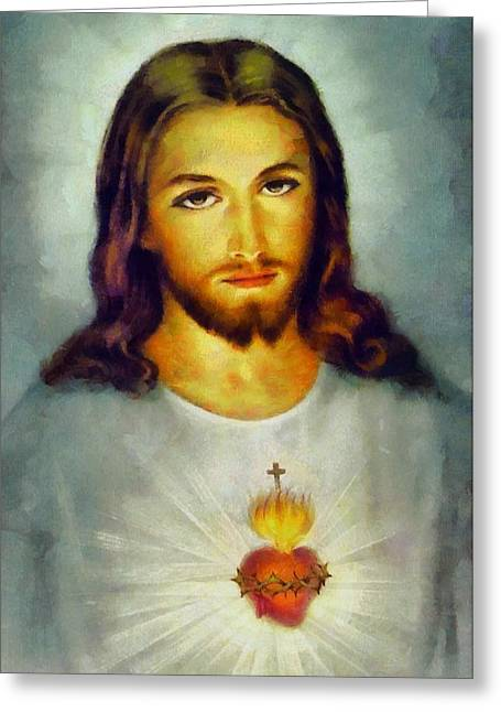 Christian Sacred Greeting Cards - Religious Art 50 Greeting Card by Victor Gladkiy