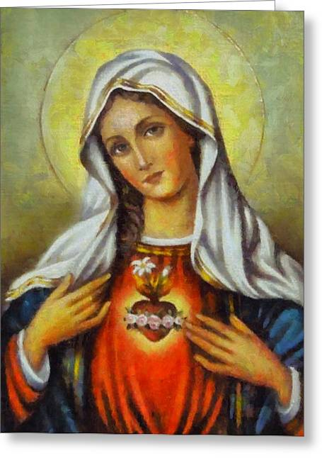 Religious Paintings Greeting Cards - Religious Art 57 Greeting Card by Victor Gladkiy