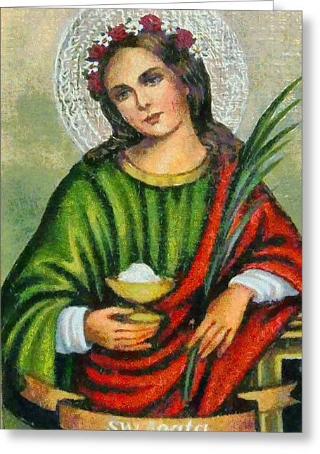 Devotional Art Greeting Cards - Religious Art 7 Greeting Card by Victor Gladkiy