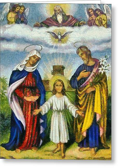 Devotional Art Greeting Cards - Religious Art 9 Greeting Card by Victor Gladkiy
