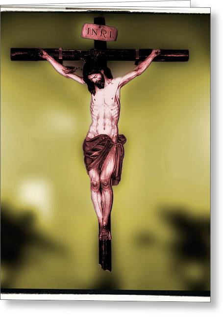 Crucifixtion Greeting Cards - Religious icon Greeting Card by Brian Grady