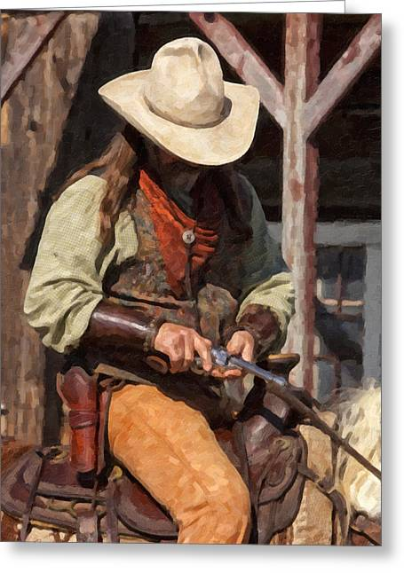 Riding Boots Digital Art Greeting Cards - Reload Greeting Card by Jack Milchanowski