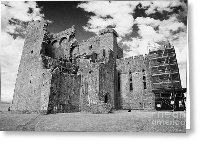 Cathedral Rock Greeting Cards - remains of 13th century cathedral Rock of Cashel tipperary ireland Greeting Card by Joe Fox