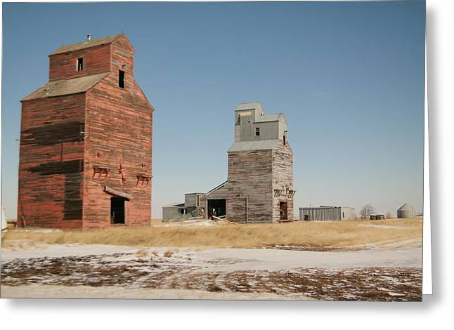 Grain Bin Greeting Cards - Remains of Redstone Montana Greeting Card by Jeff  Swan