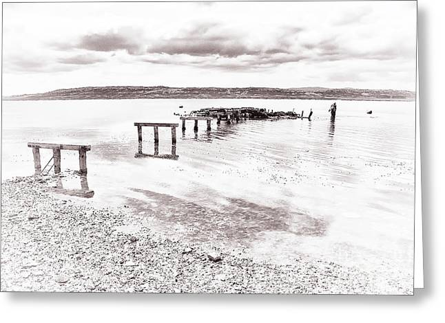 Falkland Islands Greeting Cards - Remains Of The Pier Greeting Card by Kate McKenna