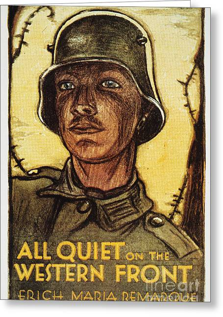 Western Front Greeting Cards - Remarque: All Quiet, 1929 Greeting Card by Granger