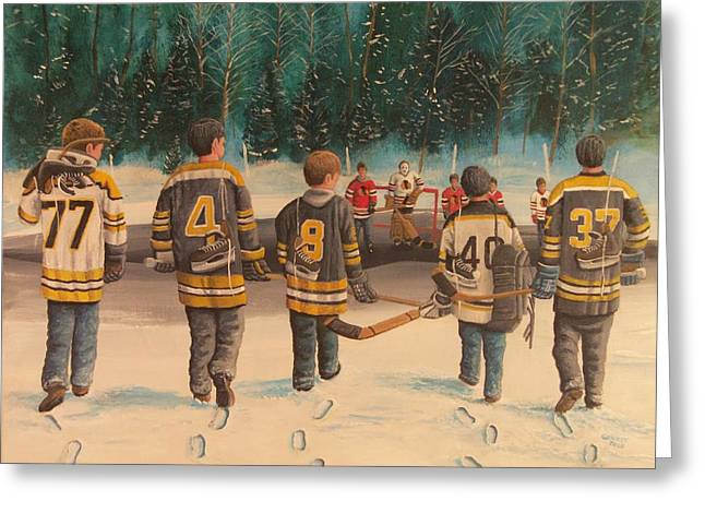 Rematch - Stanley Cup 2013 Greeting Card by Ron  Genest