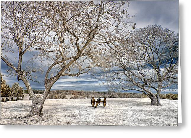 Grey Clouds Greeting Cards - Rembembering the battle Greeting Card by Cindy Archbell