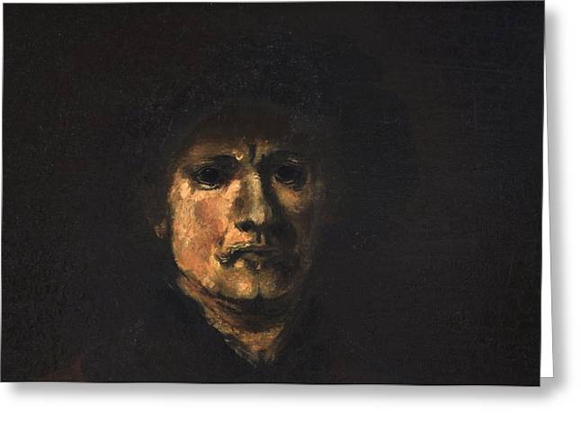 Bankruptcy Greeting Cards - Rembrandt after Rembrandt Greeting Card by Rachel Christine Nowicki