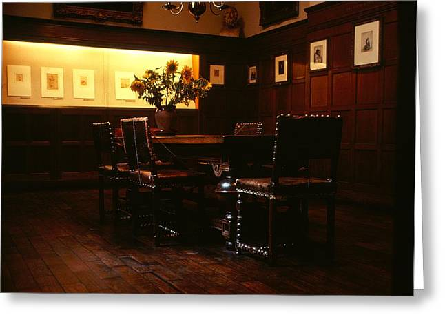 Famous Artist Greeting Cards - Rembrandt House - Interior 1 Greeting Card by Roy Williams