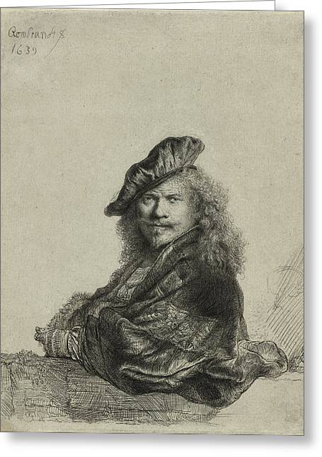 Stone House Drawings Greeting Cards - Rembrandt Self Portrait 1639 Greeting Card by Movie Poster Prints