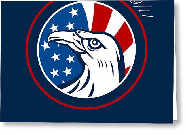Remember 911 Patriots Day Poster Greeting Card by Aloysius Patrimonio