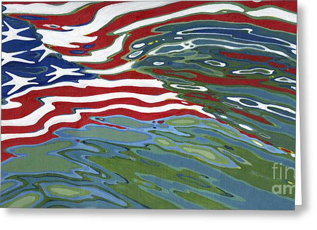 4th July Paintings Greeting Cards - Remember Greeting Card by Margaret Juul