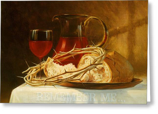 Religious Still Life Greeting Cards - Remember Me Greeting Card by Graham Braddock