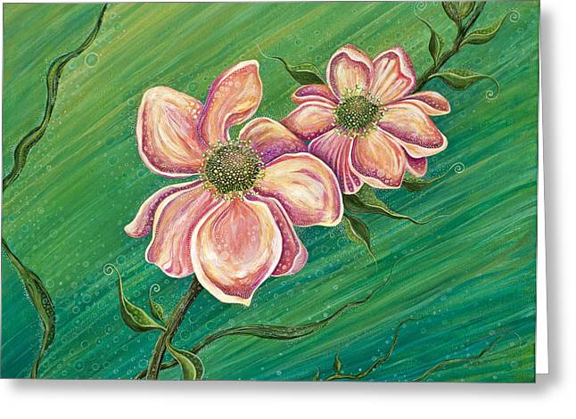 Pink Flower Prints Greeting Cards - Remember My Spirit Greeting Card by Tanielle Childers