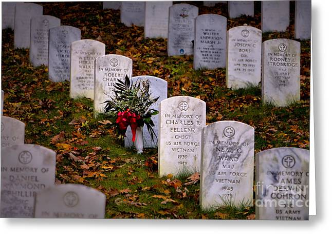 Soldiers National Cemetery Digital Art Greeting Cards - Remember our Dead Greeting Card by Jerry Fornarotto