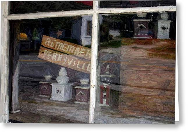 Row Tapestries - Textiles Greeting Cards - Remember Perryville - Perryville KY  Greeting Card by Thia Stover