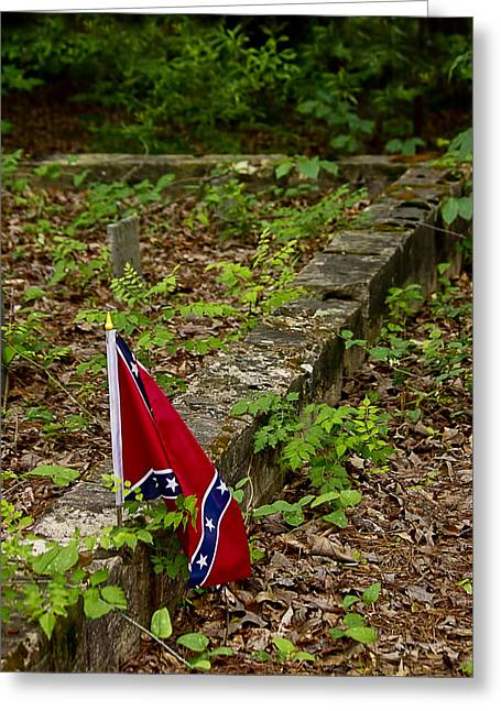 Confederate Flag Greeting Cards - Remembered Greeting Card by Susan Williams