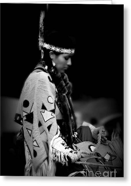 Fancy-dancer Greeting Cards - Remembering ancestors Greeting Card by Scarlett Images Photography