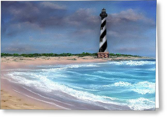 Soft Light Pastels Greeting Cards - Remembering Cape Hatteras Greeting Card by Kathryn Foster