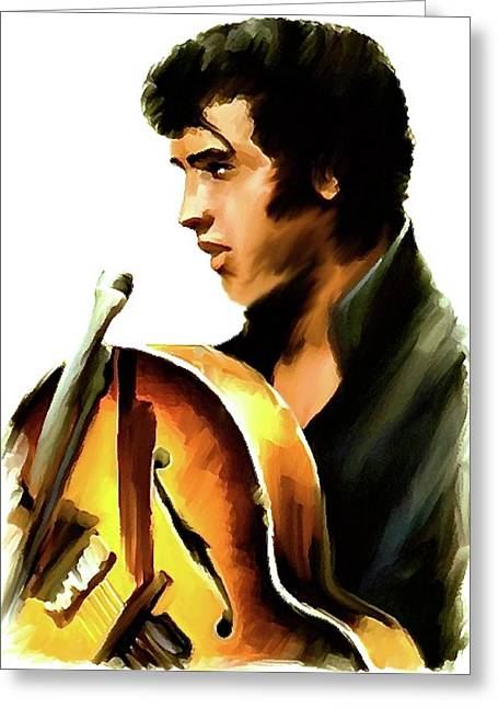 Elvis The King Greeting Cards - Remembering  Elvis Greeting Card by Iconic Images Art Gallery David Pucciarelli