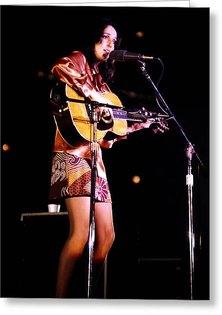 1970s Music Greeting Cards - Remembering Joan Greeting Card by Paul W Faust -  Impressions of Light