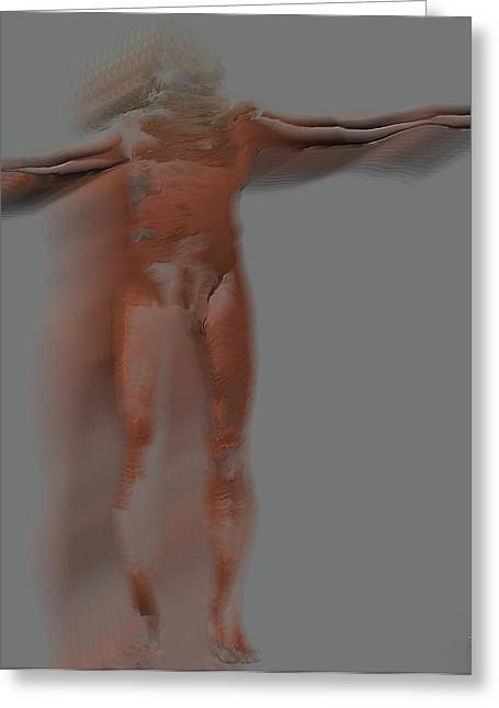 Crucifix Mixed Media Greeting Cards - Crucified anonymous Greeting Card by Joaquin Abella