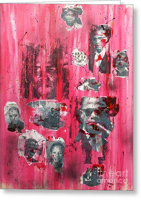 Civil Rights Mixed Media Greeting Cards - Remembering  Malcom X Greeting Card by Roberto Prusso