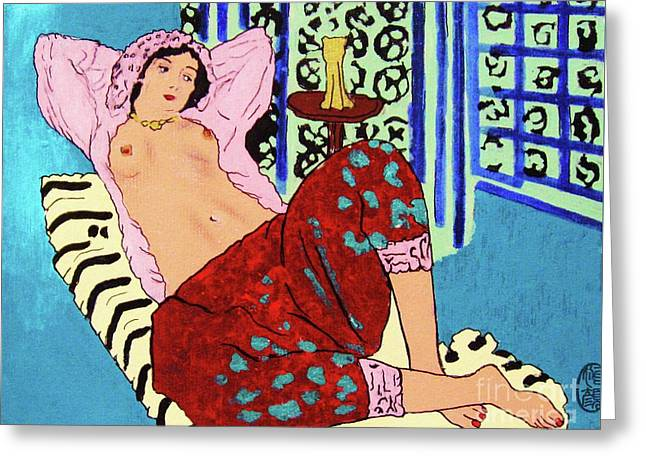 Remembering Matisse Greeting Card by Roberto Prusso