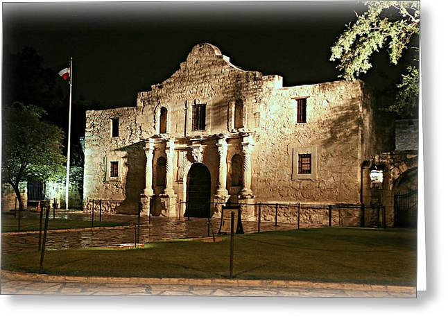 Bowie Greeting Cards - Remembering The Alamo Greeting Card by Stephen Stookey