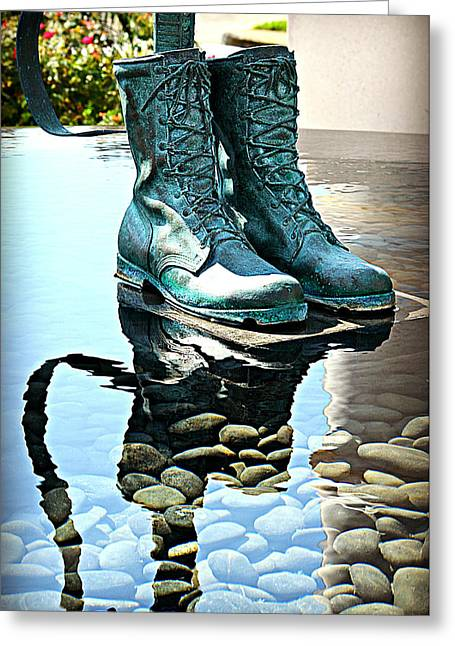 Remembering Those Boots Greeting Card by Ingrid Zagers