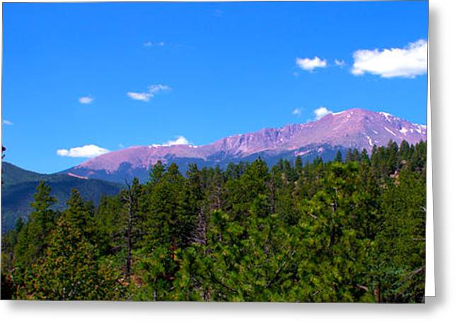 America The Beautiful Greeting Cards - Remembering Waldo Canyon Panoramic Greeting Card by Brian Harig