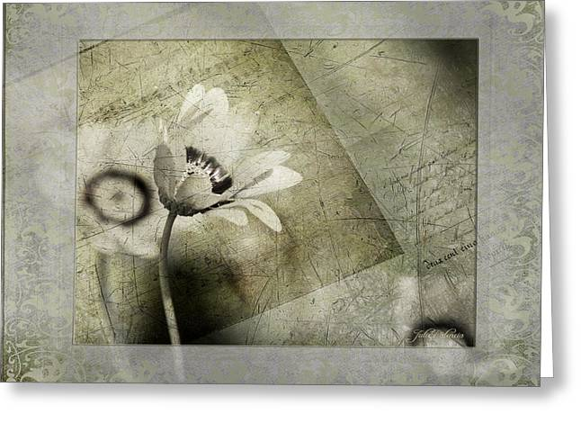 Texture Overlay Greeting Cards - Remembering Yesterday Greeting Card by Julie Palencia