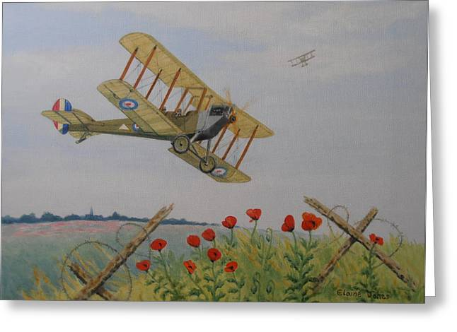 World War One Paintings Greeting Cards - Remembrance Greeting Card by Elaine Jones