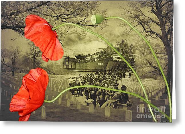 Lindalees Greeting Cards - Remembrance Greeting Card by Linda Lees