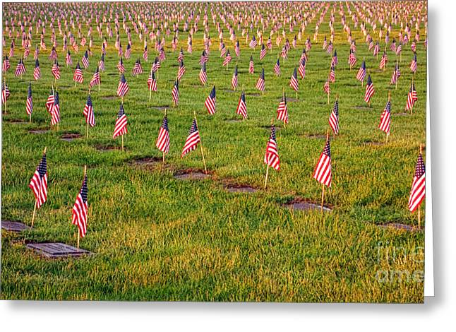 American Tradition Greeting Cards - Remembrance Greeting Card by Olivier Le Queinec