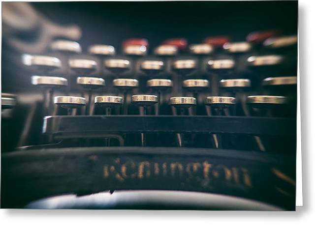 Typewriter Greeting Cards - Remington Keys Greeting Card by Nomad Art And  Design