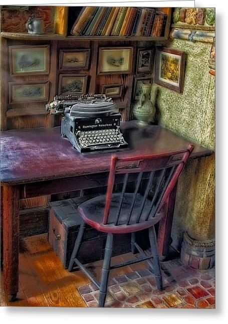 Remington Photographs Greeting Cards - Remington Noiseless No 6 Typewriter Greeting Card by Susan Candelario