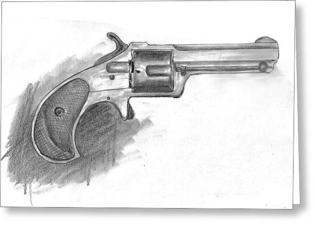 Remington Drawings Greeting Cards - Remington Smoot 30 Rimfire Greeting Card by Kevin Callahan
