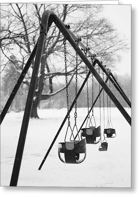 Swingset Greeting Cards - Reminisce Greeting Card by Luke Moore