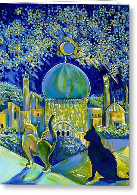 Anna Duyunova Greeting Cards - Reminiscences of Asia. Bed Time Story Greeting Card by Anna  Duyunova