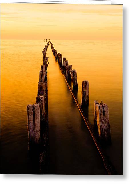 Posts Greeting Cards - Remnants Greeting Card by Chad Dutson