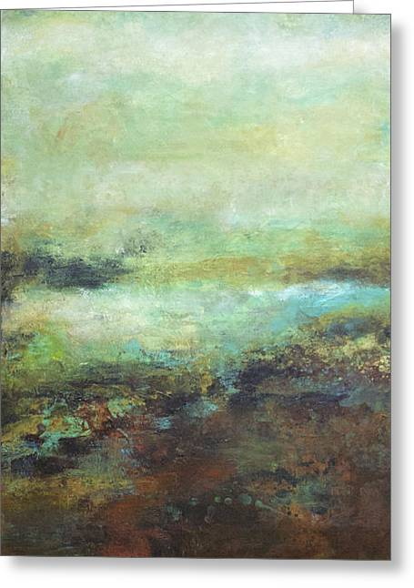 Fog Jewelry Greeting Cards - Remnants of a Passing Fog Greeting Card by Laura Swink